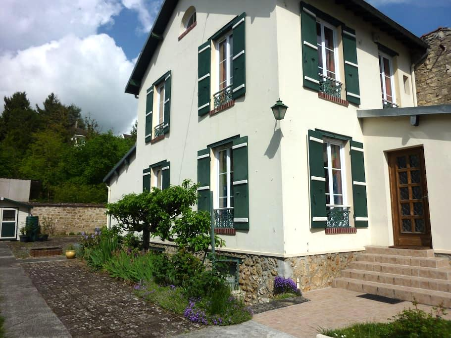 Chambre privative . Welcome - Hardricourt - Casa