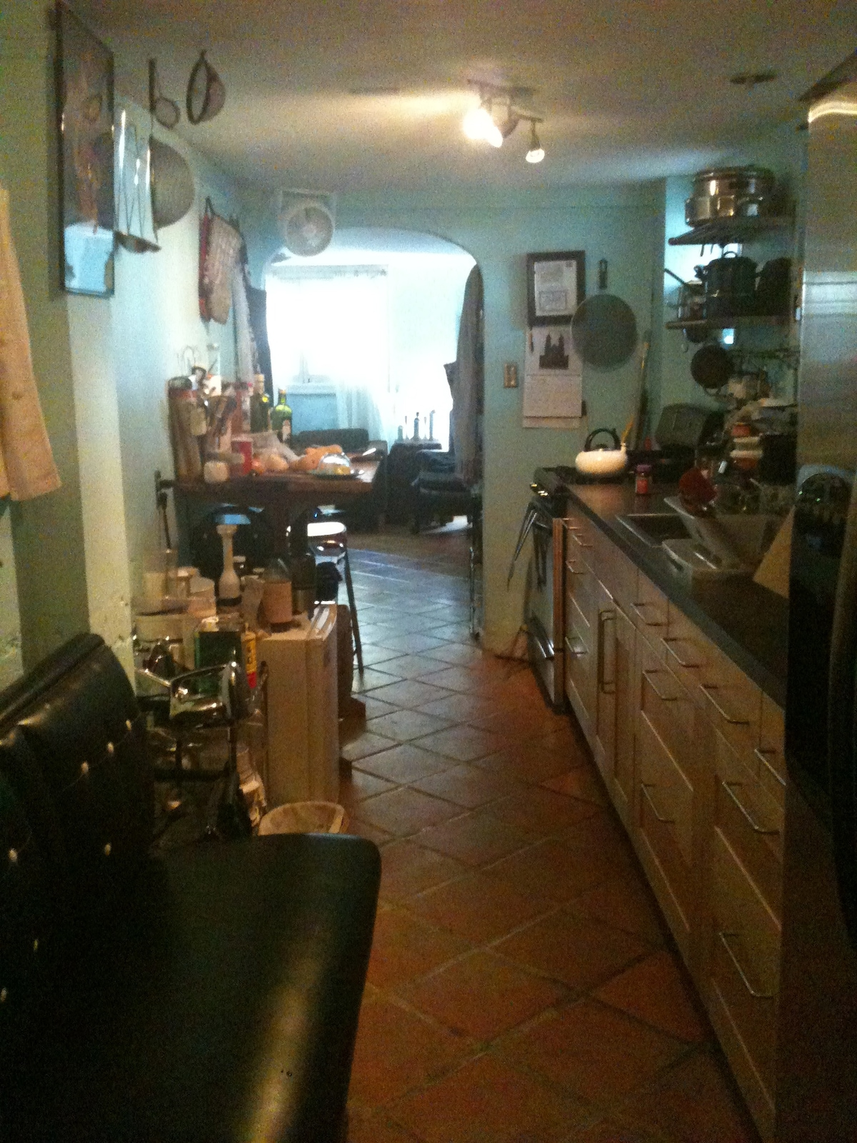 Spacious well stocked galley kitchen