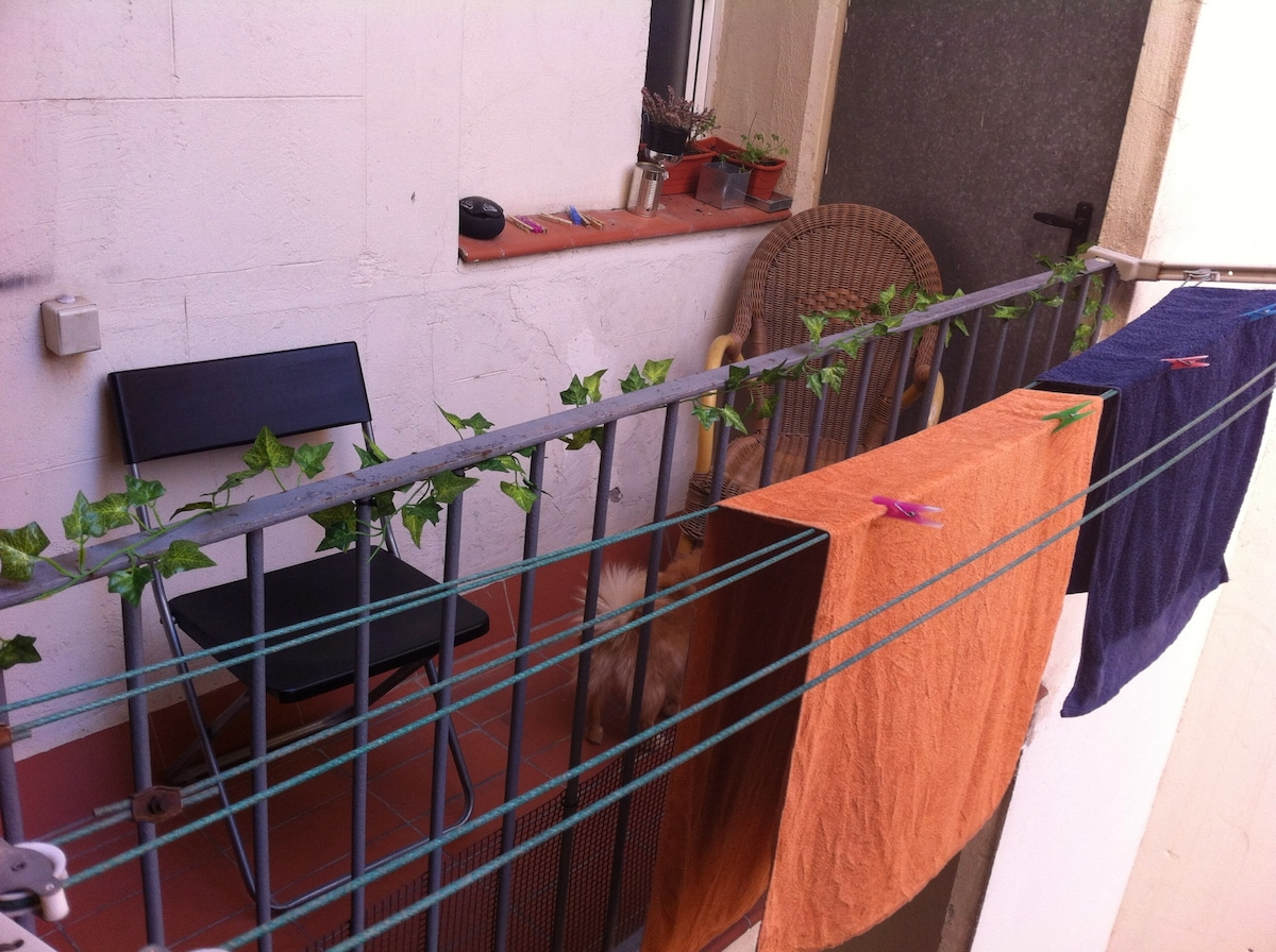 Balcony. Excellent place to relax and have fresh air!