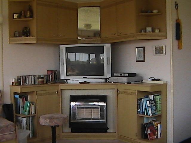 gas fire, satelite tv,dvd player