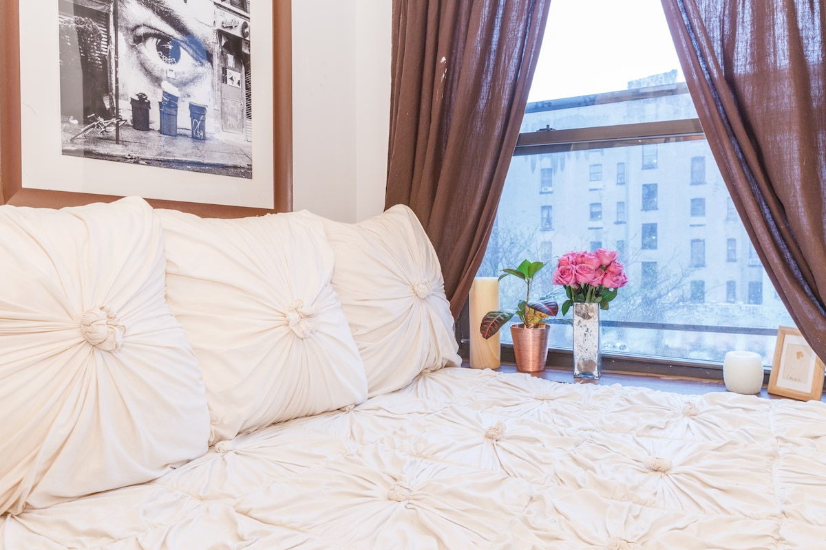 Cozy Lower East Side apartment.