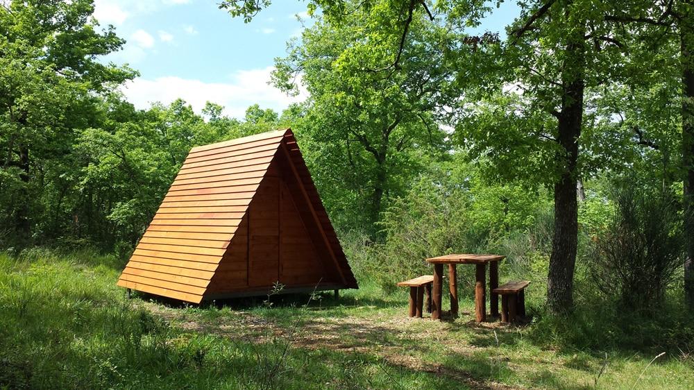 Bauernhofcamping Toskana - Holzzelt