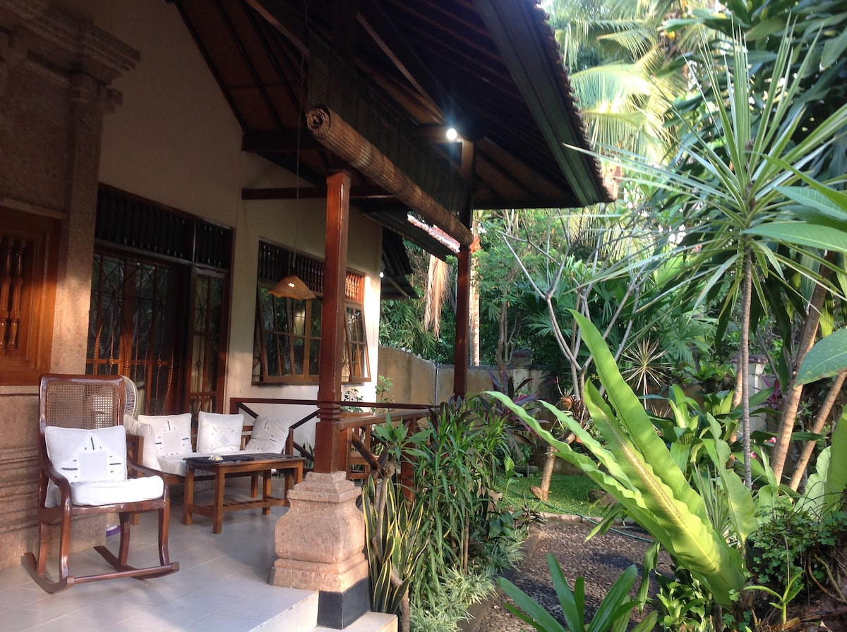 Our veranda with a amazing view of garden for relaxation
