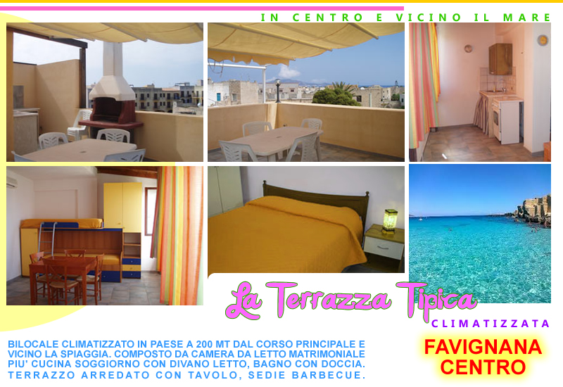LA TERRAZZA TIPICA - Houses for Rent in Favignana, Sicilia, Italy
