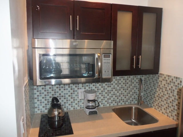 Front Apt: Brand new Kitchen with Quartz Countertops, Cook top, Convection/Microwave Oven, Fridge