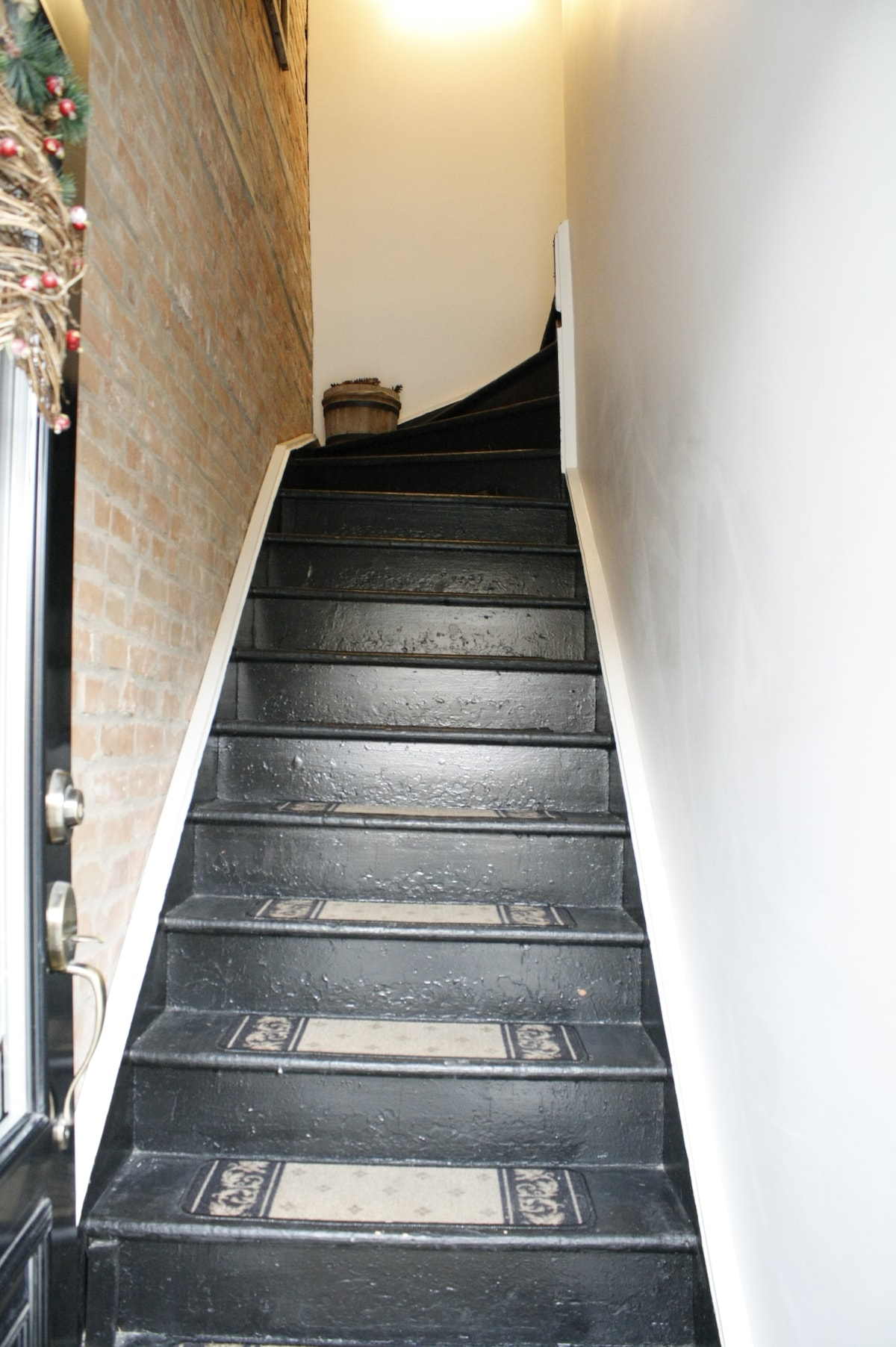 Stairs leading to the 3rd floor apartment
