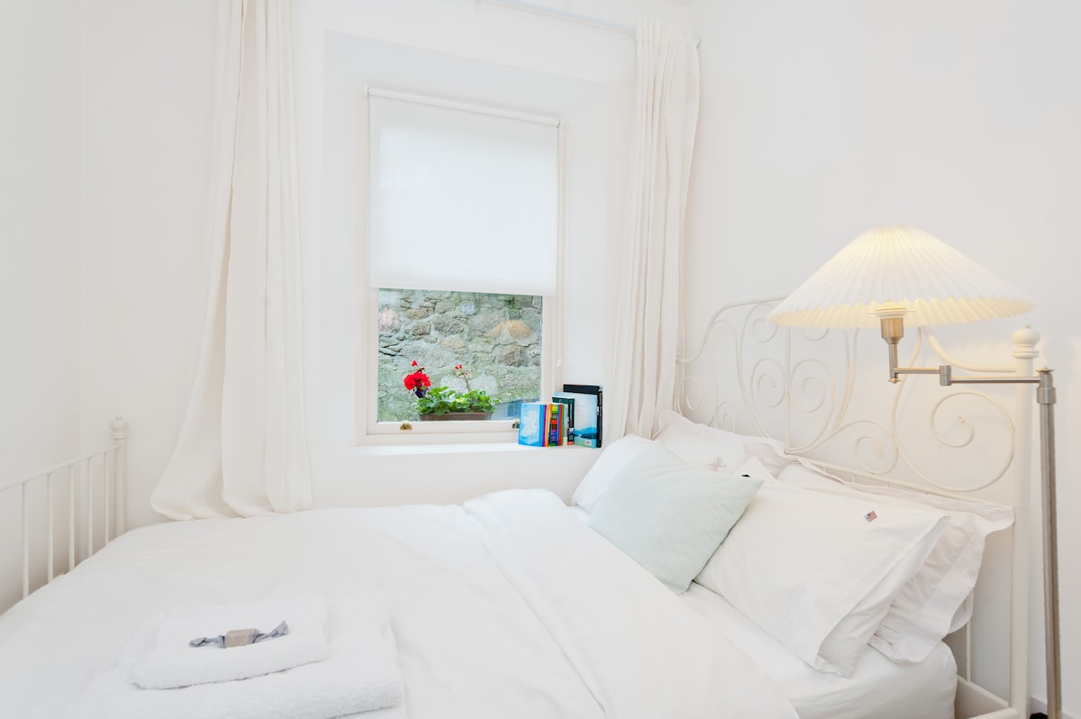 Your bedroom, memory foam mattress, and pristine bedlinen for a good nights sleep.
