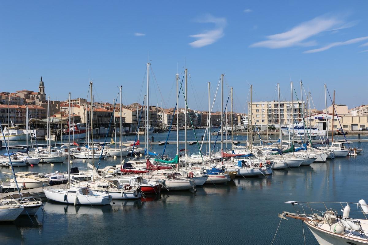Vue imprenable à deux pas du cœur de ville, des commerces, de la plage....