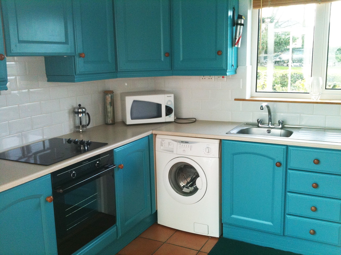 The kitchen has everything you need to make meals. Alternatively Rathmullan has lots of very good restaurants.