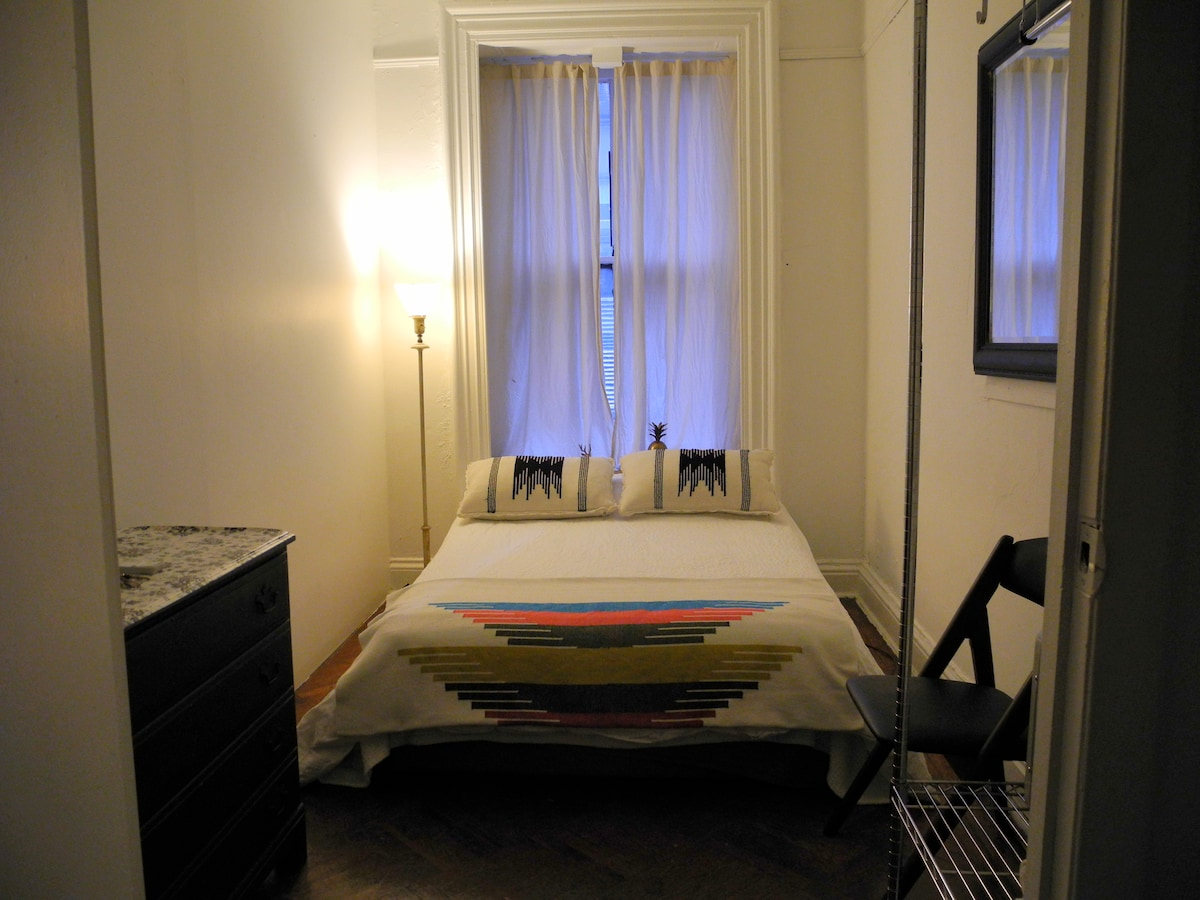 Current Layout of room, Full Size Bed