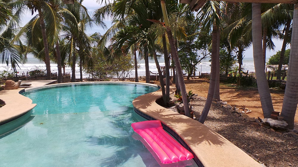 your own private oceanfront home, gardens and pool!