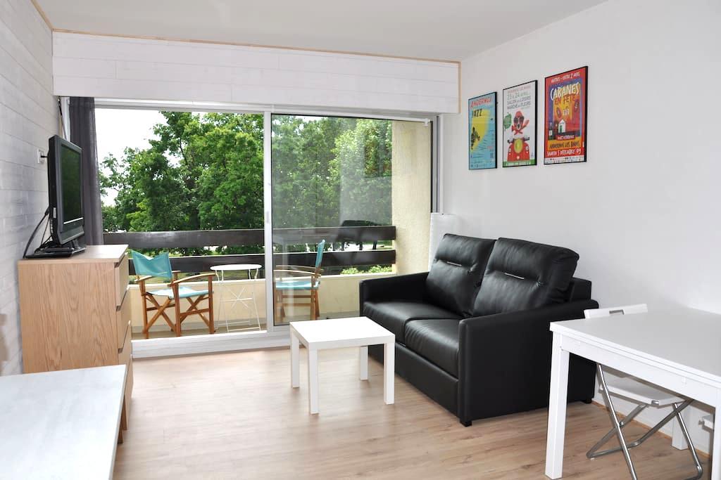 Studio face au bassin et port ostréicole  Andernos - Andernos-les-Bains - Appartement en résidence