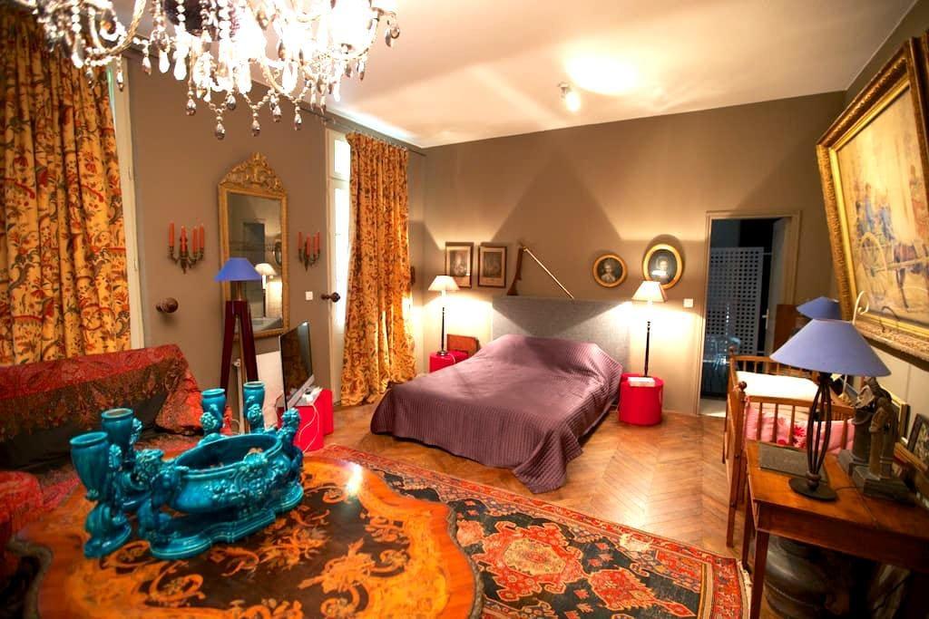 Chambre dans maison de maître bord de Dordogne - Prigonrieux - Casa de hóspedes