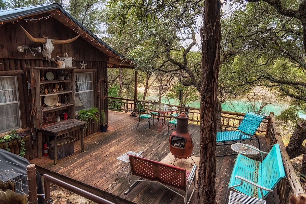 Rustic Cabin On Blanco River   Houses For Rent In Wimberley, Texas, United  States