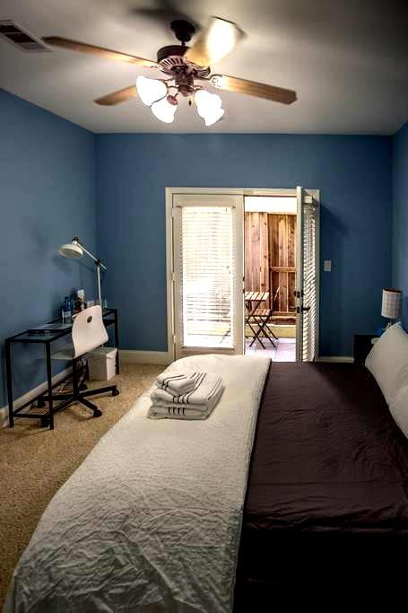 Private Room w/Courtyard by Downtown Houston - Houston - Maison