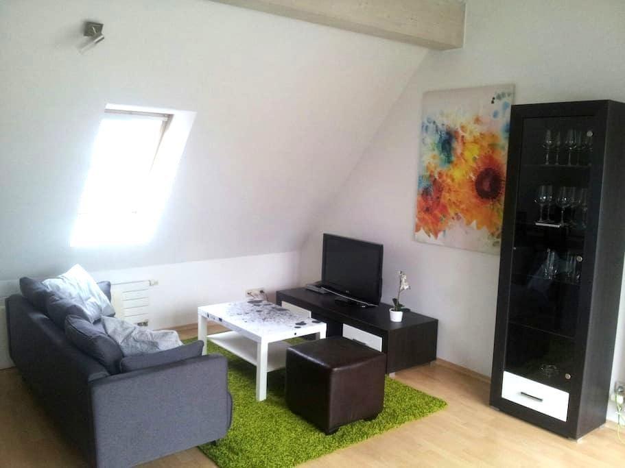 3-Zimmer Dachgeschoßwohnung zentral - Augsburg - Apartamento