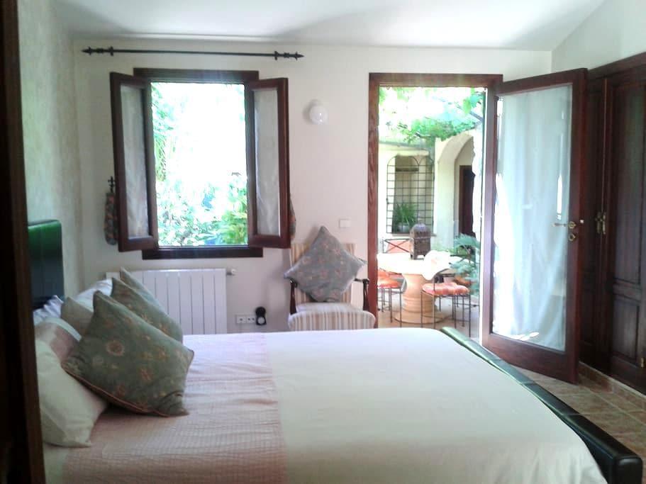 Lovely vine room in pretty garden. - Consell