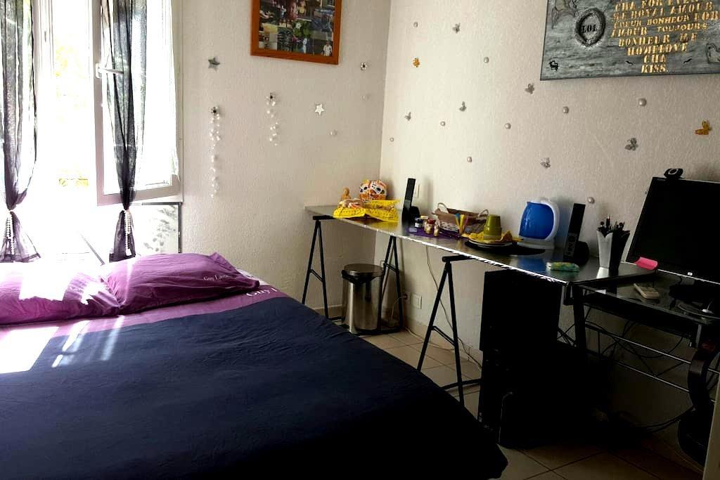 Belle chambre lit deux places - Mandelieu-la-Napoule - Appartement