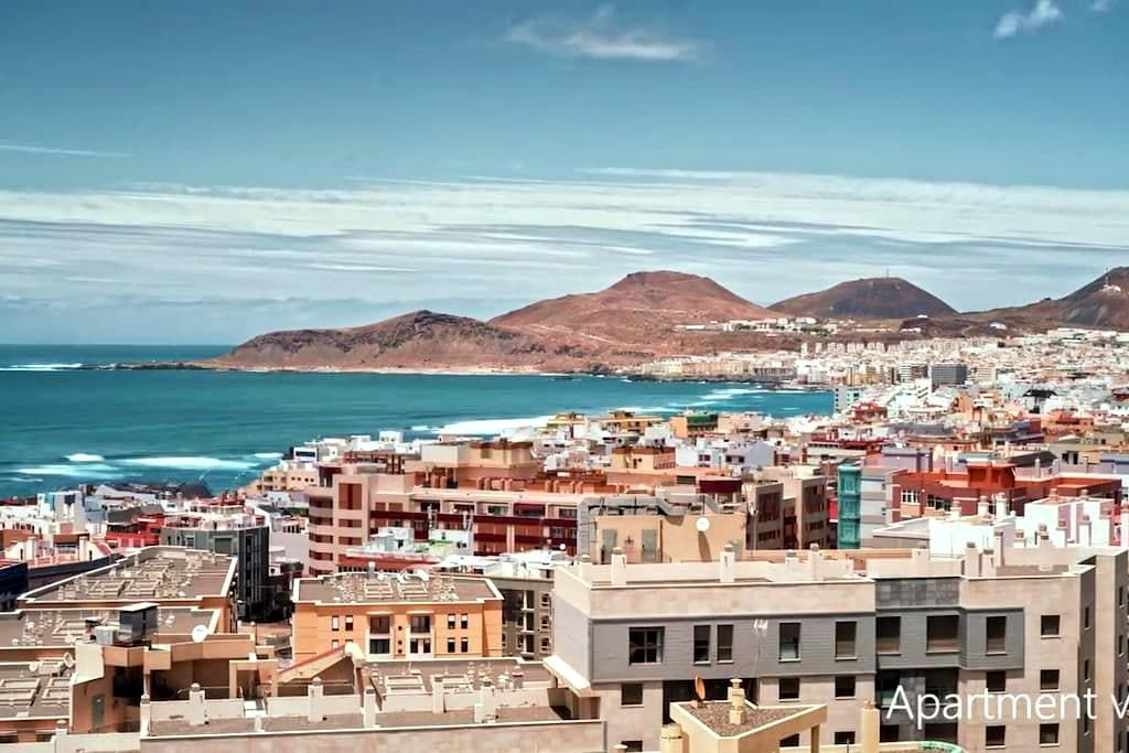 A room in an apartment with an amazing view - Las Palmas de Gran Canaria - Appartement