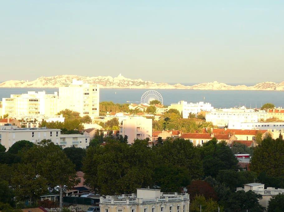 Appartement vue mer imprenable à Marseille sud. - Marsilya - Daire