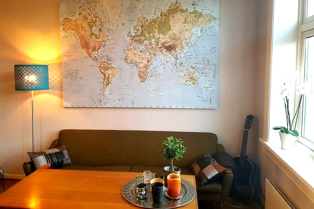 Large room in retro style apartment in Sagene - Oslo - Lejlighed