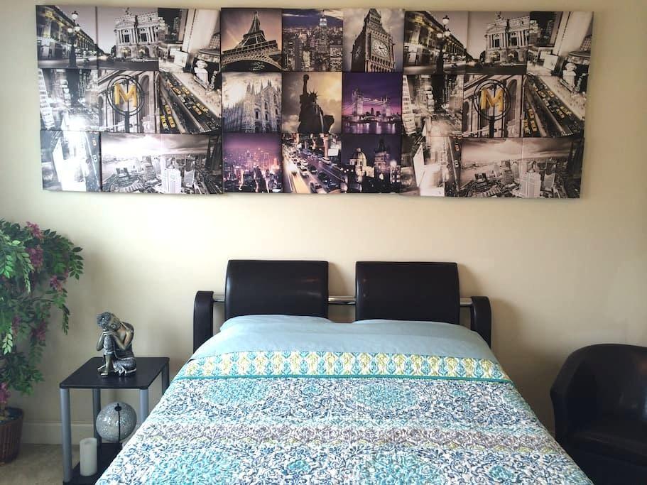 Private Bedroom#2 (Near KSU & HWY 75 in Kennesaw) - Kennesaw - Casa a schiera