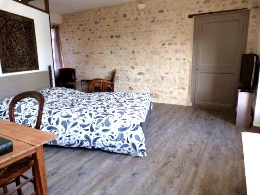Chambre avec SdB, entrée privative - Parmain - Dom