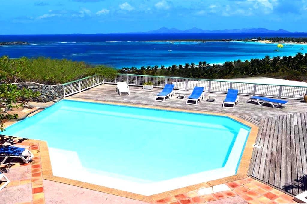 AlizéÔ, vue à 180° sur mer et plage - Saint-Martin - Wohnung