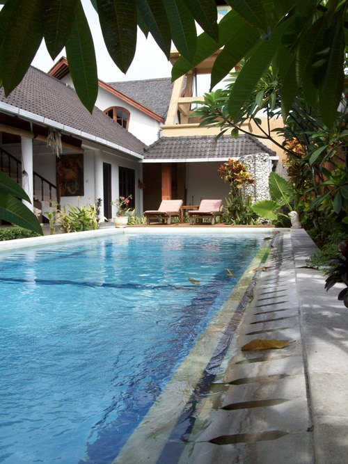Sparkling 12 mtre lap pool, serviced and checked daily