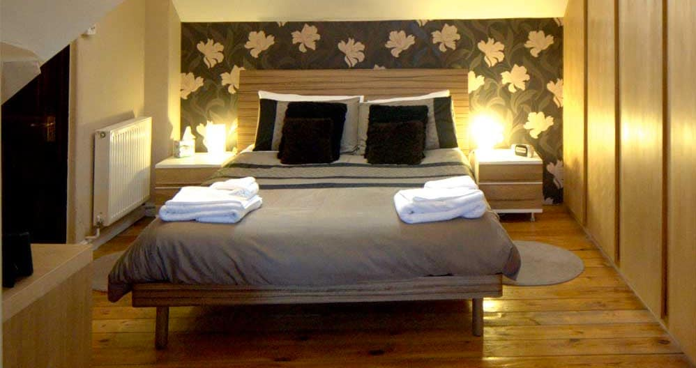 The Keep room,  a large room with king bed and en-suite