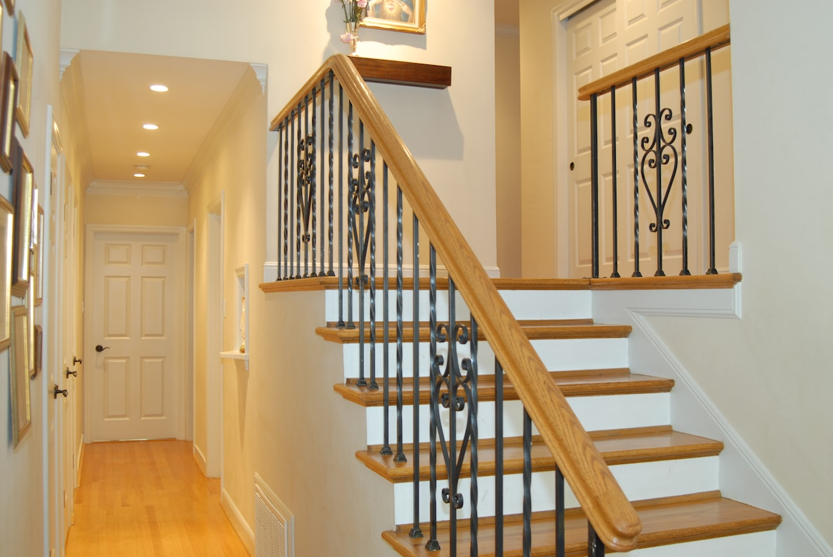 Entryway and stairs from front door