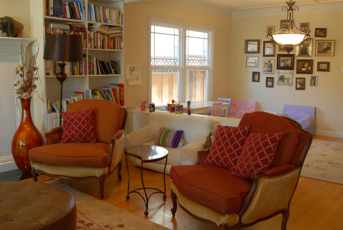 View of living room adjoining kids play area