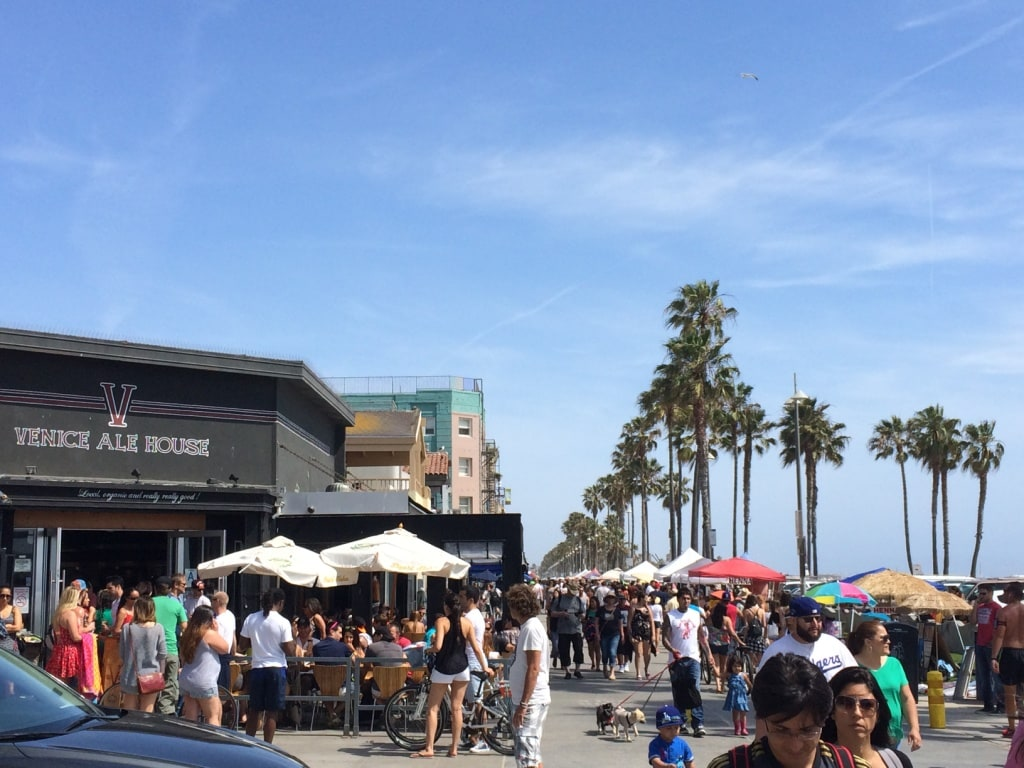 This is of the Venice boardwalk and is literally a 3 minute walk from my unit (see map...)