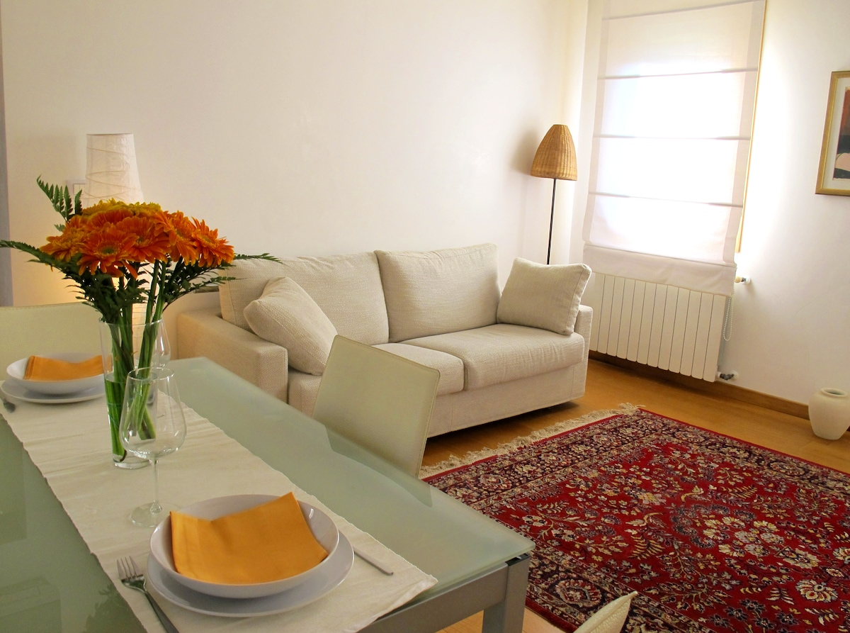 Sunny, wide and central apartment