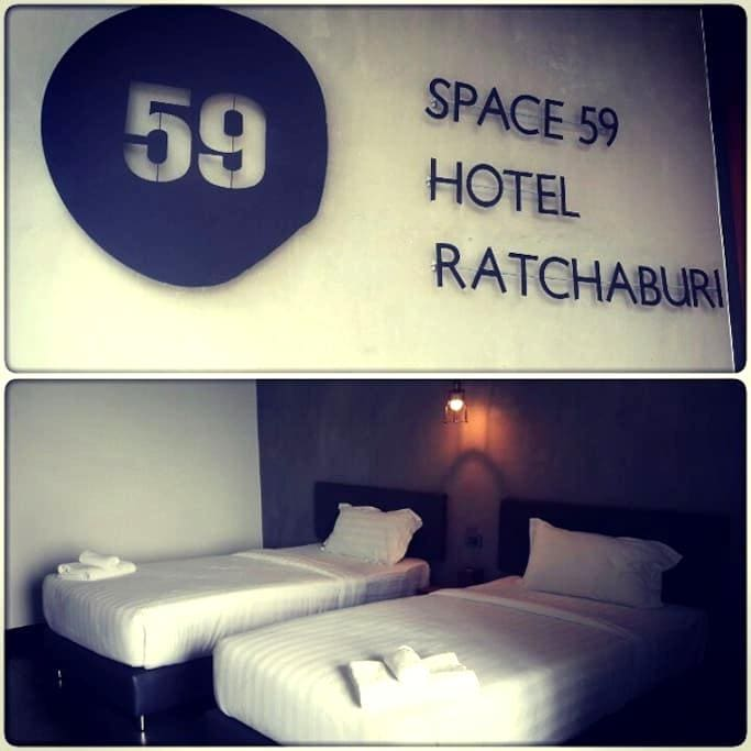 Chic room @Space59 Hotel Ratchaburi - Tambon Na Muang - Byt