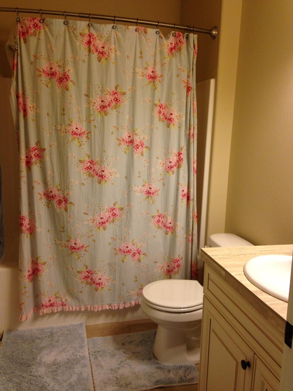 Bathroom with a large soaking tub