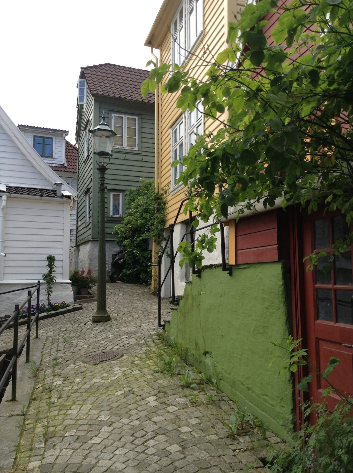 The small cosy street next to the house
