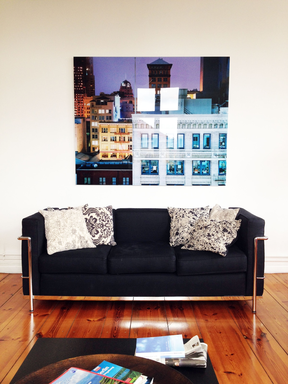 Architectural photography of San Francisco in living room