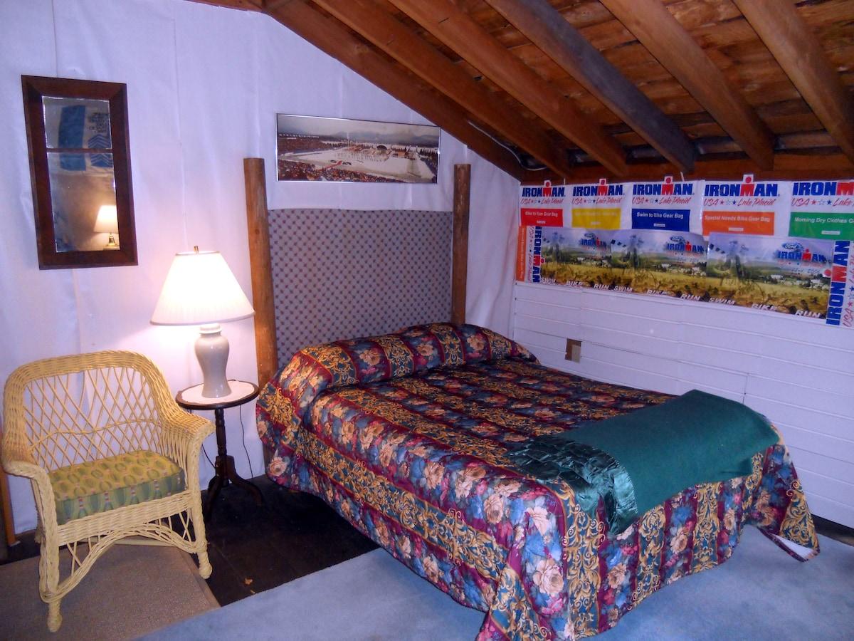 dorm bedroom.