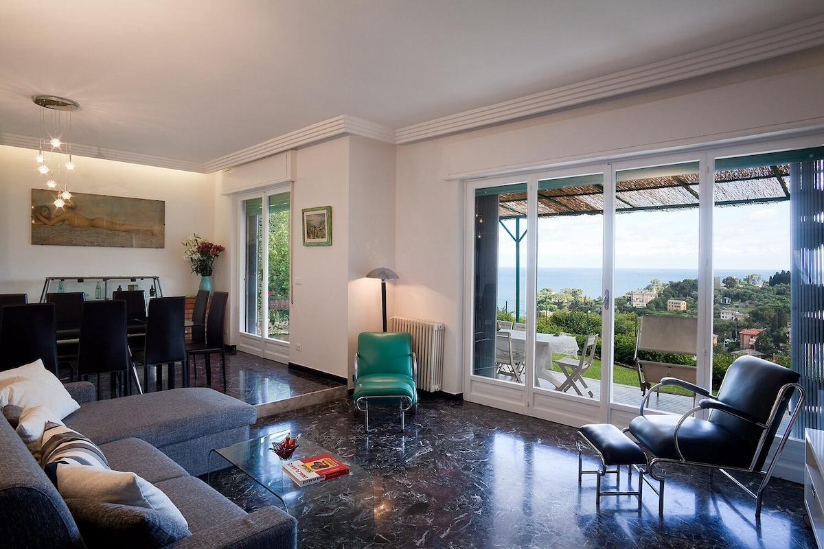 Great villa with Portofino sea view