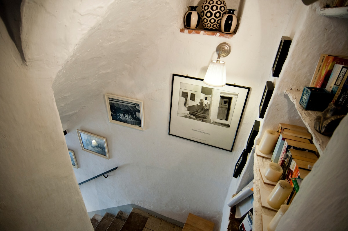 view from stairs