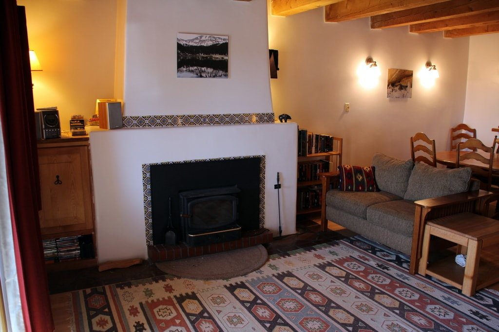 First floor living area & the first of 3 fireplaces.