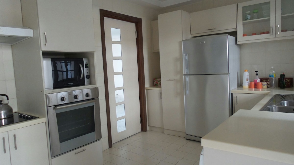 Our fully equipped, clean and simple kitchen