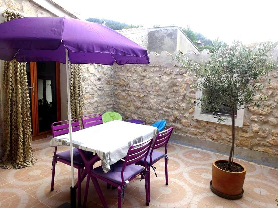 Maison de village près de la mer avec terrasse - Portel-des-Corbières - Dom