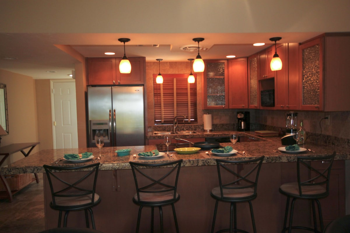 Open floor plan with beautiful kitchen will delight even the most discriminating cook