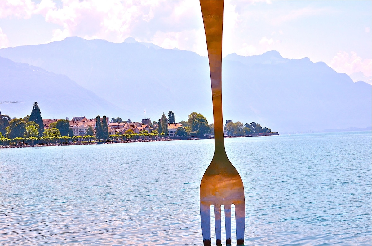 Sunset on the Leman Lake - Montreux