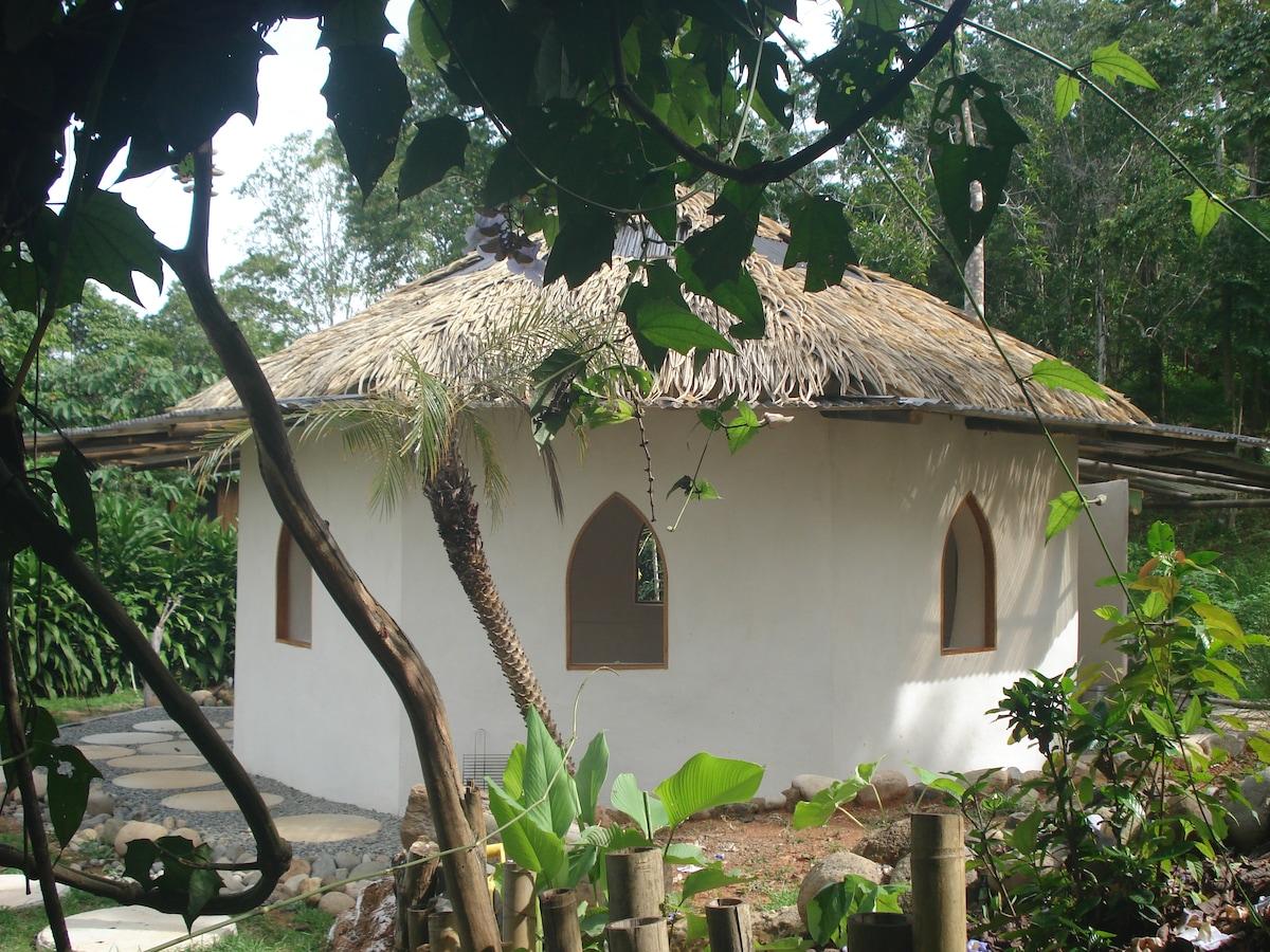 Beautiful octagon   temple