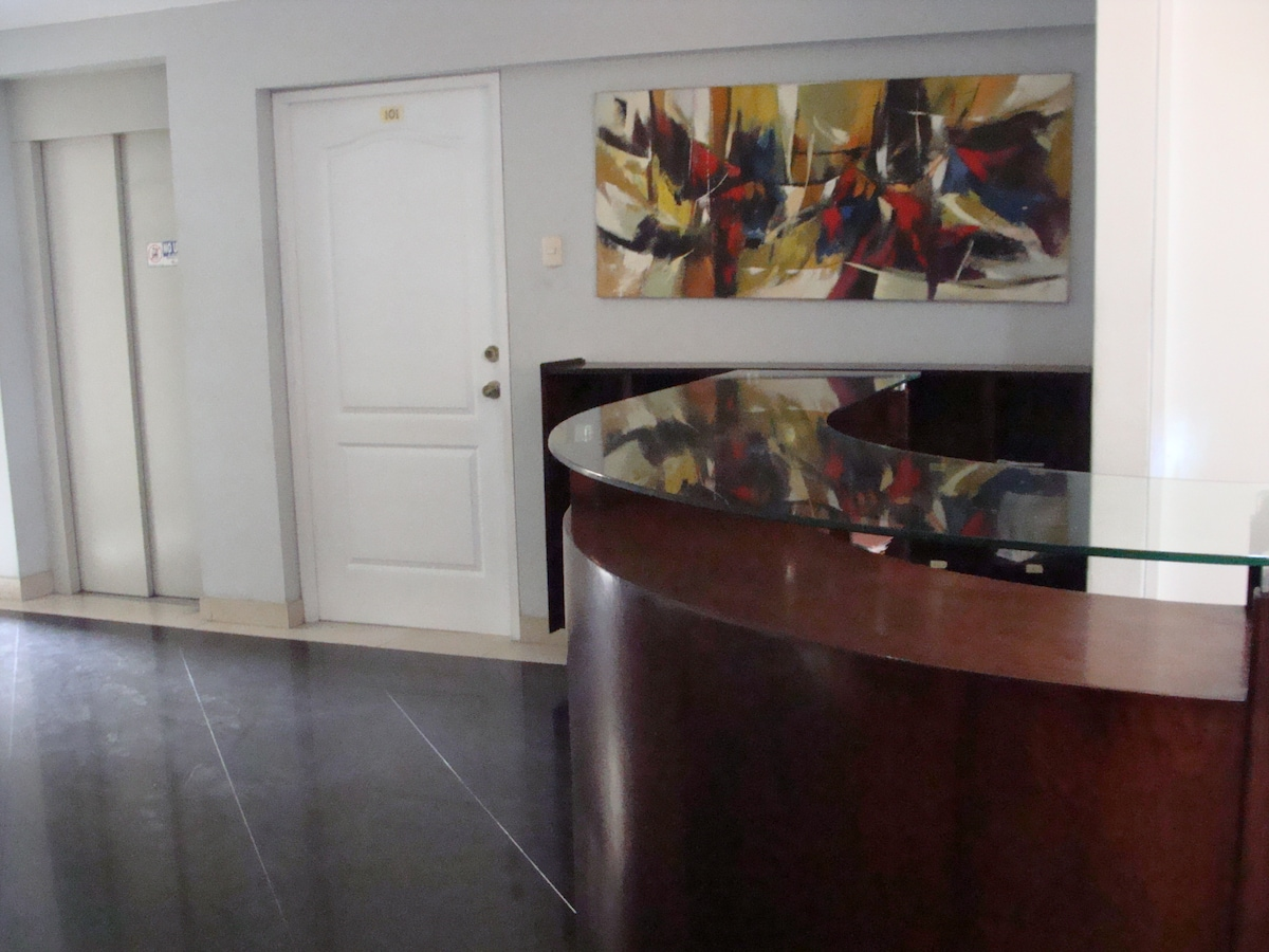 Counter of the reception