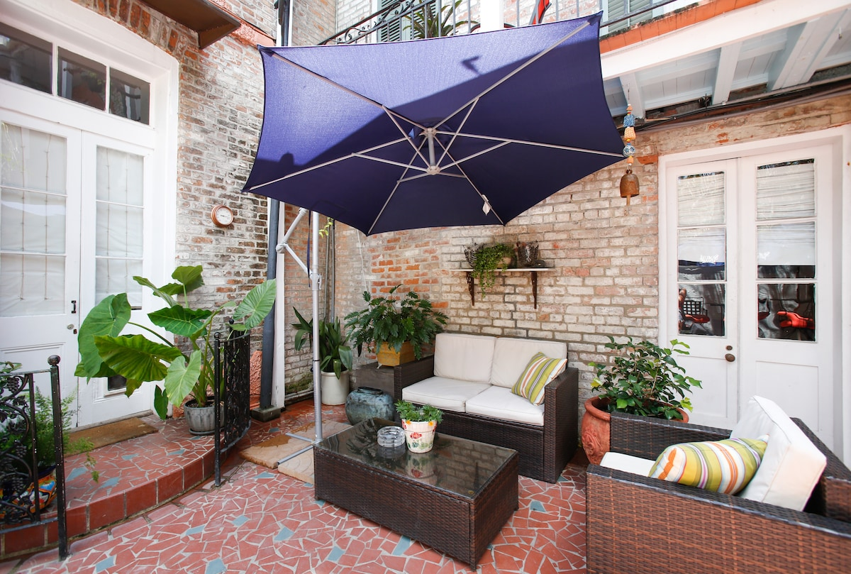 Property's private courtyard