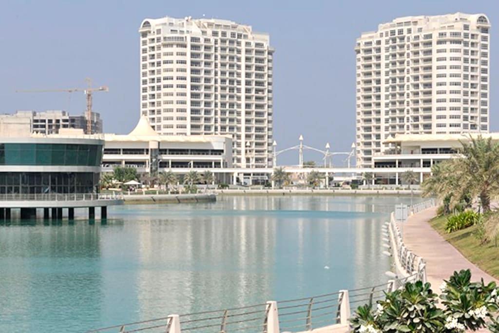 Luxury spacious 2BR apt in Amwaj with WIFI - Amwaj Island - Daire
